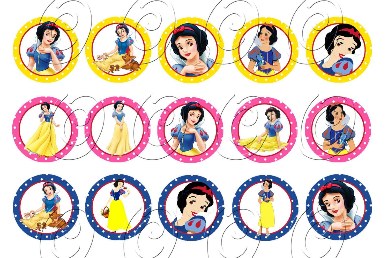 15 Snow White Princess Birthday Cupcake Cake Cookie Edible