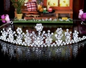 Exquisite Bridal Pageant Sparkling Tiara use Swarovski Crystal (492)