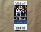155 Sports Event Ticket Wedding Save The Date