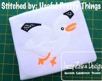 Seagull Applique Embroidery Design