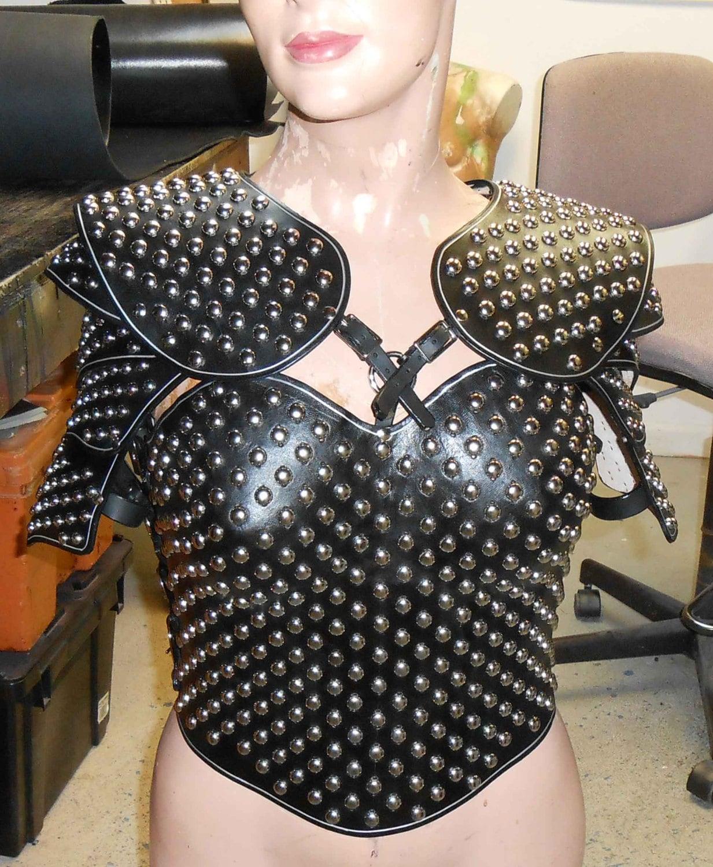Woman's studded leathe...