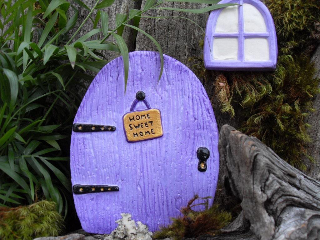 enchanted fairy door set fairy garden kit by laurelsfairydoors