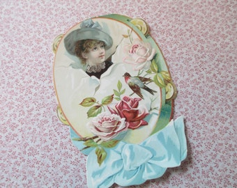 Antique Victorian Die Cut Card