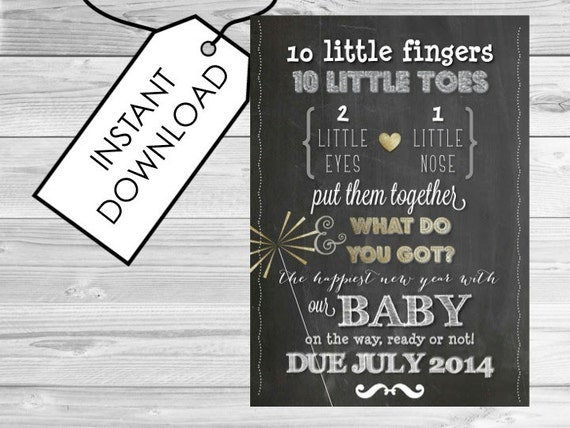 New Years Pregnancy Announcement Printable Pregnancy