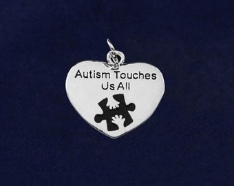 Autism Heart Charm - Autism Touches Us All (RE-CHARM-01AT)