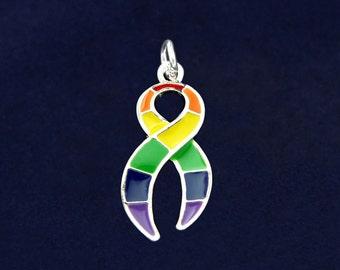 Large Rainbow Ribbon Charm (RE-CHARM-01-RB)