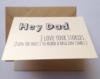 Dad Card / Father's Day Card / Dad Birthday Card / Funny Card / Card for Father / Father's Day