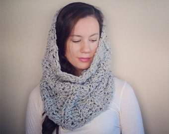 Knit Cowl - Chunky Cowl - Extra Large Cowl - Oversized Cowl