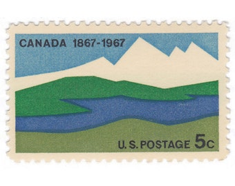 10 Unused US Vintage Postage Stamps - 1967 5c Canada Stamp - Canada - Item No. 1324