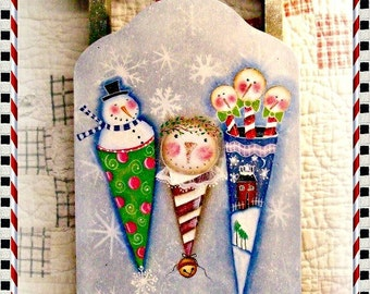 Snow Cone Sled - Painted by Martha Smalley, Painting With Friends E Pattern