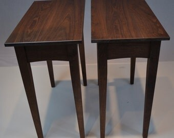 Walnut Nightstand with curved apron