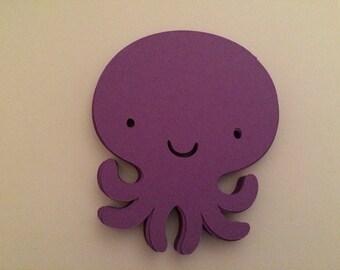 20pc purple octopus die cuts
