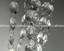 1 Can 30 Feet Hanging Clear Faux Crystal Acrylic Strands Glass Crystal Garlands Christmas Garland Manzanita Crystals Wishing Tree Crystals