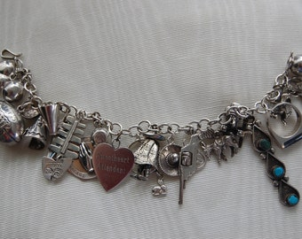 Vintage Sterling Silver Southwestern Theme Plus Bracelet