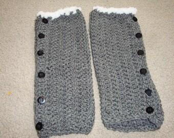 Hand crocheted legwarmers