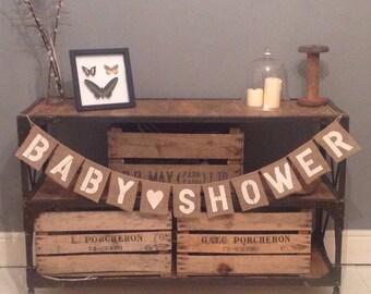 Baby Shower Hessian / Burlap Bunting banner