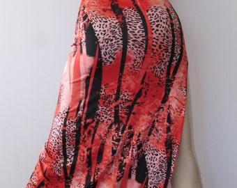 sale Zanza Slinky Lycra Hi Low Dress, BodyCon Dress M Stretch Side slit Tube Dress