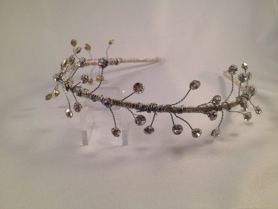 Tiara, Headband, Boho Wedding Crown, Daenerys Crown , Game of Thrones, Fantasy Crown, Bridal Crown, Wedding Halo - SCYTHIA Headband