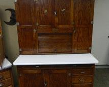 1927 Oak Napanee Hoosier Cabinet Original Finish