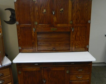 1927 Oak Napanee Hoosier Cabinet Original Finish