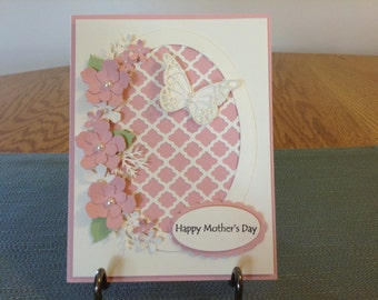 Pink and Ivory Mother's Day Card