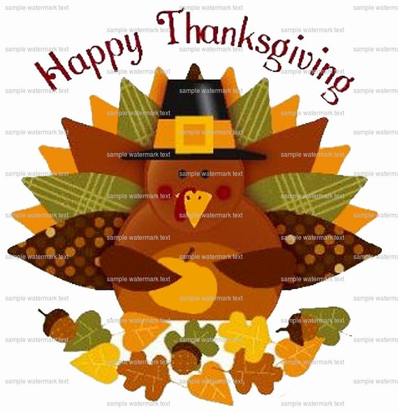 Edible Cake Images Thanksgiving : Happy Thanksgiving Edible Cake and Cupcake Topper For