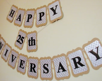 Anniversary Banner - Handcrafted - Customizable