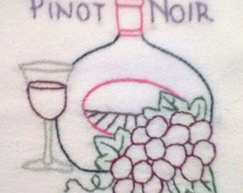 Wine Country pattern Pinot Noir Free Shipping