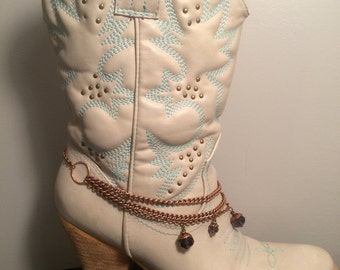 Bronze Beaded Boot Anklet