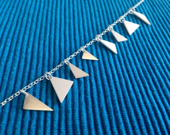 Sterling silver triangle offcuts necklace (36.5cm)