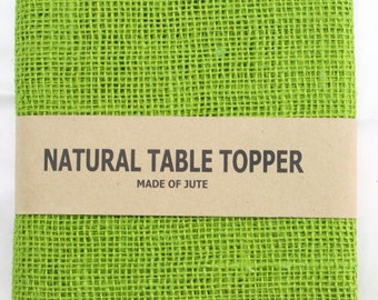"""Apple Green Burlap Table Runner 14"""" x 72"""" finished edges Good for rustic country weddings, finish edges, catering, home decor (BH-R60)"""