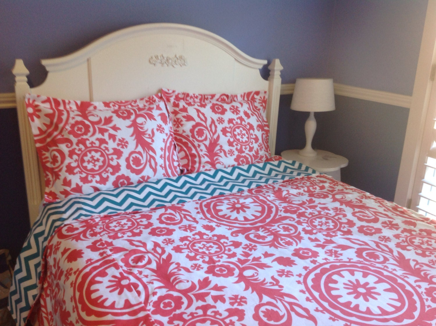 Sale Reversible Duvet Covers Coral And Turquoise Twin Twin