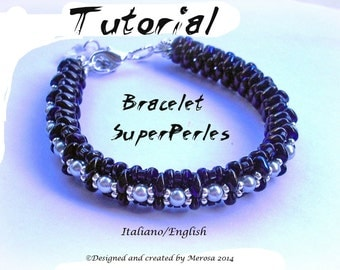 Bracelet SuperPerles ( tutorial graphics in italiano and english)