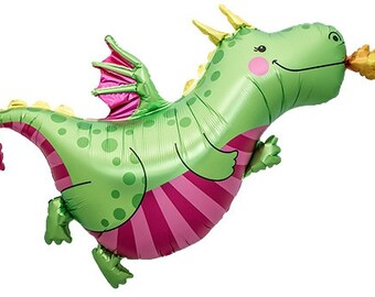 "47"" Super Size Dragon Foil Balloon birthday party supplies baby shower kids party favors table decorations"