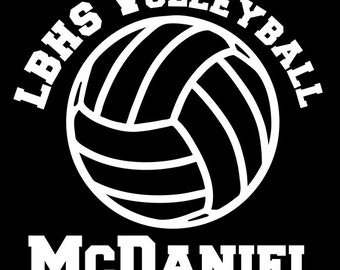 Volleyball Decal Personalized Team, Player Name Vinyl Decal for Car Window, Locker, Laptop, and More!