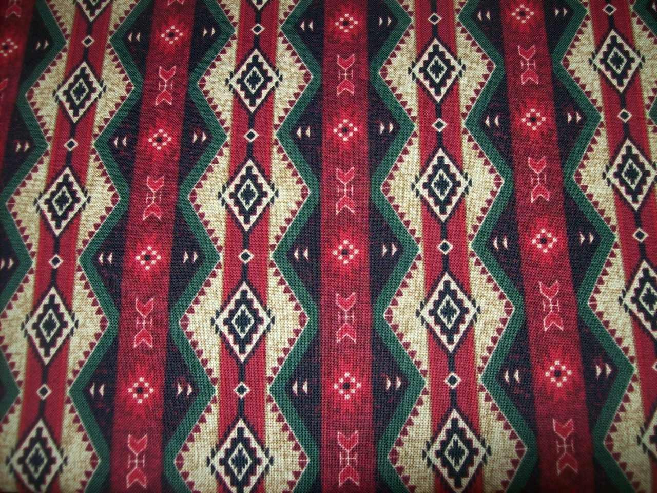 Red Timeless Treasures Aztec Tribal print fabric per yard/