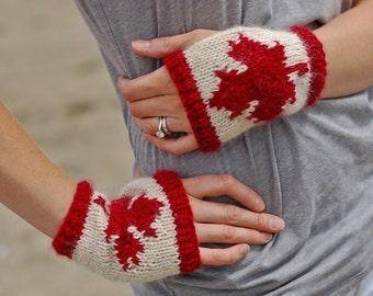 Canadian Fingerless Gloves knitting pattern