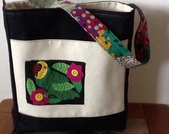 Perky Parrot Mola Shoulder Bag