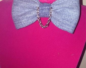 Women's fashion jean bowtie