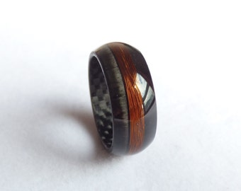 carbon & copper ring