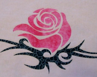 Tribal Rose 2 Quilt Applique Pattern Design