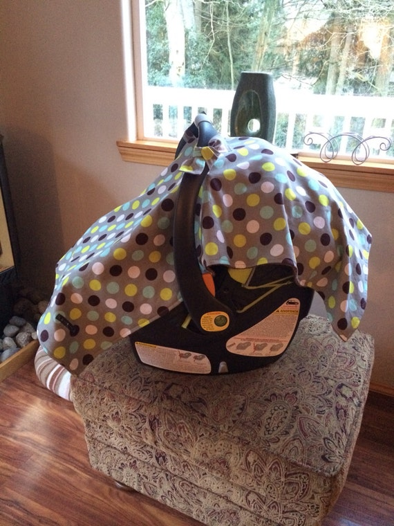 polka dot car seat canopy by ahoybabee on etsy. Black Bedroom Furniture Sets. Home Design Ideas