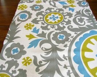 Sale*** Turquoise BLUE TABLE RUNNER 12 x 48 Gray Table Runners Citron Wedding Decorative Aqua Blue Chevron Table Runner 48 60 72 84 96
