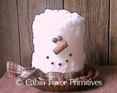 Grubby Snowman Candle