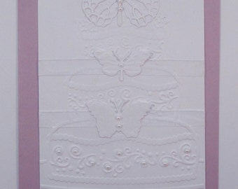 50 Embossed and Embellished Butterfly Purple Invitations for Weddings or any Occasion Customized for You