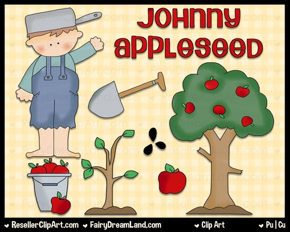 johnny appleseed digital clip art commercial use graphic johnny appleseed clipart black and white johnny appleseed clipart