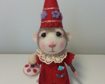 MADE TO ORDER - Needle Felted Mouse Joycie