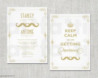 Gay wedding invite Etsy