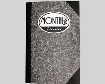 Monthly Planner Notebook / Diary Journal Notebook / 10929380