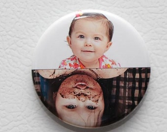 "Custom photo dishwasher magnet,dishwasher magnet,2.25"" magnet.clean dirty magnet, personalized dishwasher photo magnet"